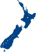 new zealand map blue