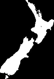 new zealand map white